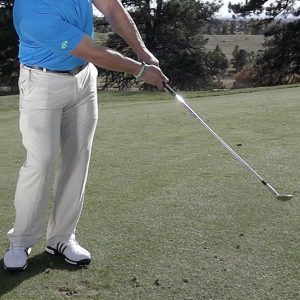 Common chipping faults: low chip shot finish position