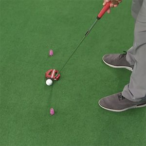 putting stroke path tee drill