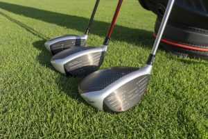 TaylorMade M5 and M6 woods- lineup on course