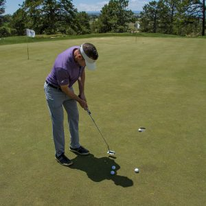 Get a better feel for the greens with this exercise- practice green