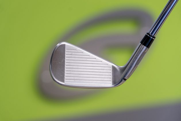 TaylorMade M5- iron face in-hand