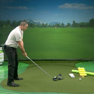 Straighten out your drives with this golf swing path drill- set up