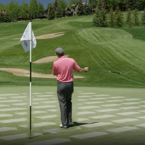 Find the perfect landing zone for every approach shot- green reading