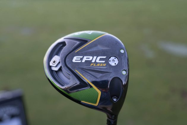 Callaway Epic Flash- driver woods review sub zero driver sole closeup